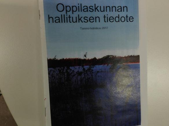 Oppilaskunnan tammi-helmikuun tiedotelehti on nyt julkaistu!